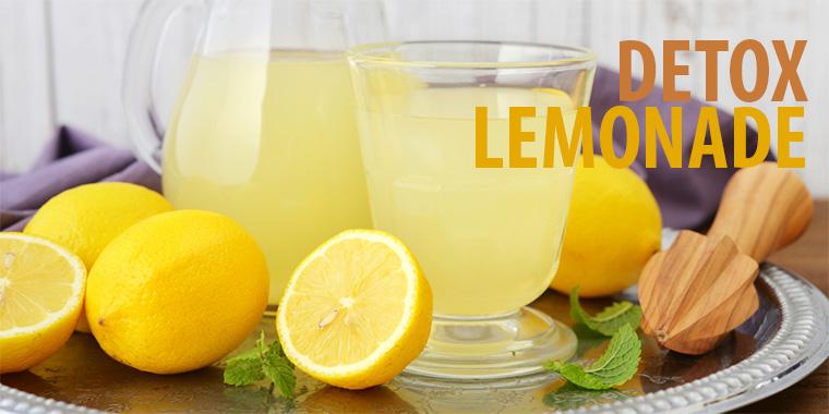 Drink When You're Feeling Rundown – Detox Lemonade